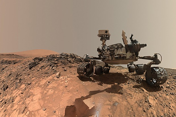 A composite selfie captured by the Mars Curiosity rover during its expedition on lower Mount Sharp. The rover's latest discoveries are a strong indicator that life may once have existed on Mars.Credit: NASA/JPL-Caltech/MSSS
