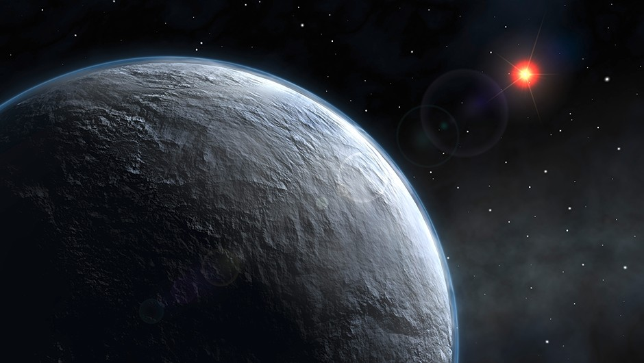 Artist's impression of exoplanet OGLE-2005-BLG-390L, a chilly world much like the planet Hoth seen in the opening scenes of The Empire Strikes Back Credit: NASA