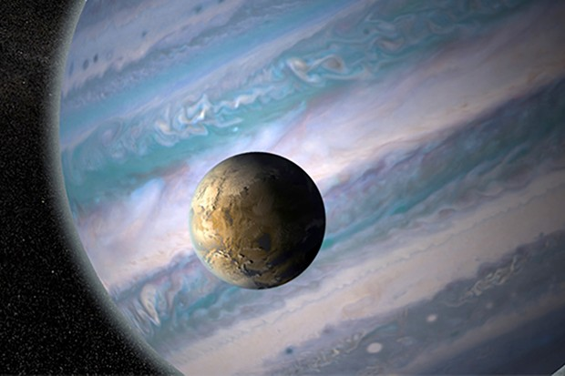 Exomoons may be better candidates for life than exoplanets. This artist's illustration shows a moon in orbit around a gas giant exoplanet.NASA GSFC: Jay Friedlander and Britt Griswold
