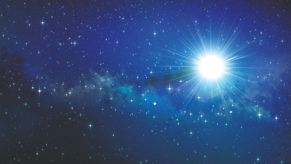 High definition galaxy background, stars and bright light shining in a milky way
