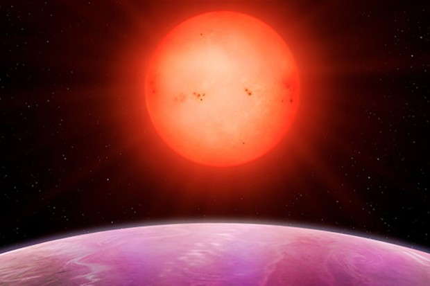 Artist's impression of sunrise on planet NGTS-1b. Image Credit: University of Warwick/Mark Garlick