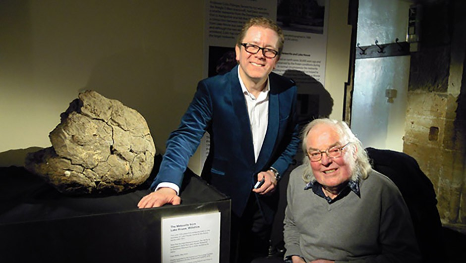 Jon Culshaw with Colin Pillinger while filming for The Sky at Night in 2013 Credit: Judith Pillinger