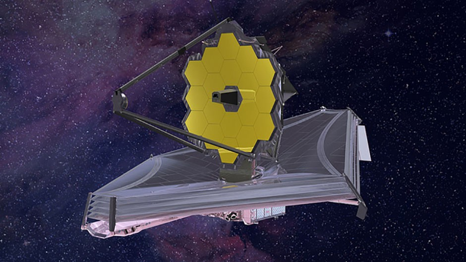 An artist's impression of how the JWST will look once it has been launched (Credit: Northrop Grumman)