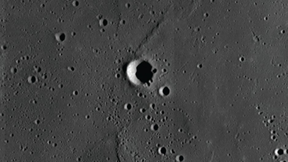 Lunar crater Blagg is 5.4km across and located on the Sinus Medii at 1.3°N, 1.5°E. Image credit: NASA/GSFC/Arizona State University
