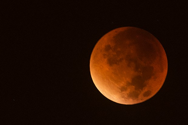 Blood moon, full lunar eclipse, Turkey, 2015