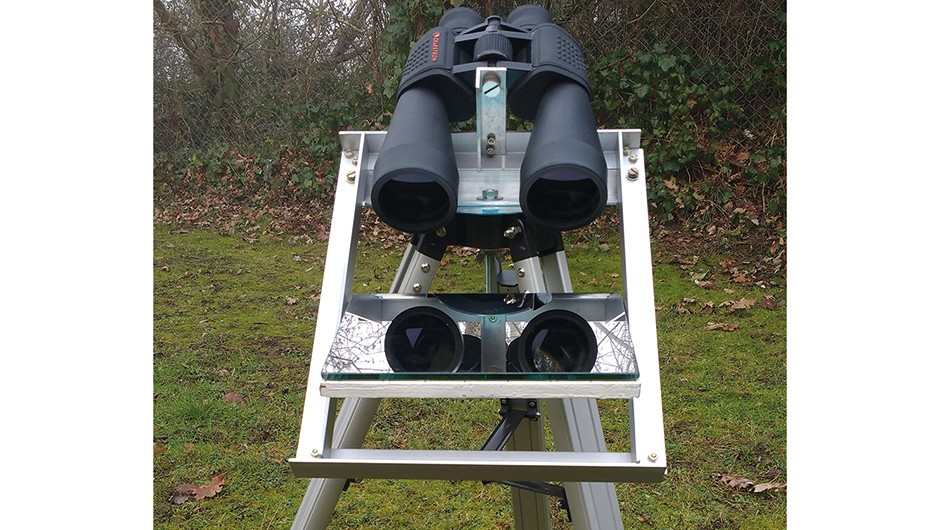 Finding a suitable viewing site is easier with the mount fitted to a tripod. Credit: Will Davis