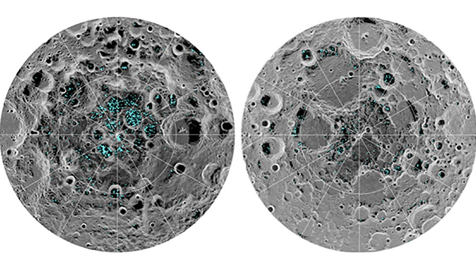 The discovery may have implications for future manned missions to the Moon, given that a water supply would be an invaluable resource. However, most of the water ice is found in the shadows of craters, where temperatures never reach above -156°C. The Moon is tidally locked with Earth, meaning the same side always faces our planet, and given the Moon's small tilt about its rotational axis, sunlight never reaches these cold regions. The M3 instrument was launched in 2008 aboard the Chandrayaan-1 lunar orbiter by the Indian Space Research Organisation. The orbiter operated until August 2009. M3 was able to detect the reflective properties of the water ice and confirm its presence by measuring how the ice molecules absorb infrared light.