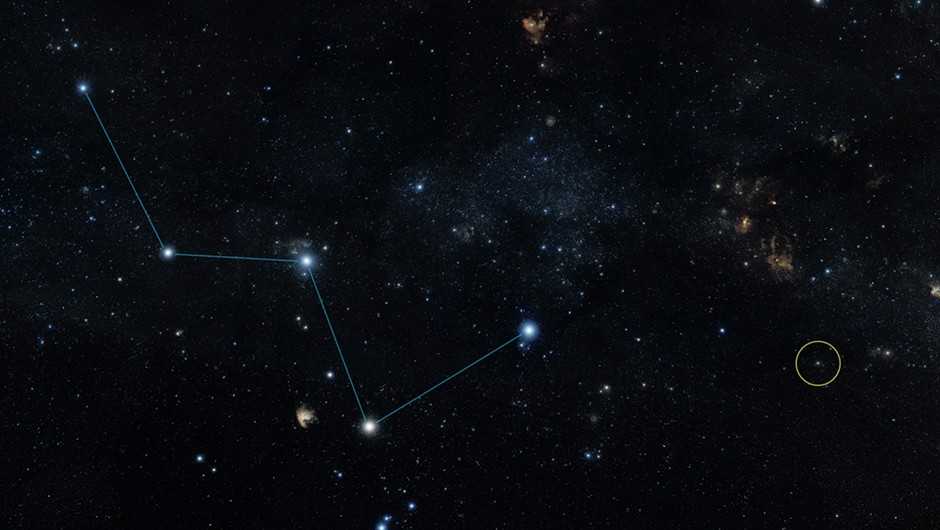 """This sky map shows the location of the star HD 219134 (circle), host to the nearest confirmed rocky planet found to date outside of our solar system. The star lies just off the """"W"""" shape of the constellation Cassiopeia and can be seen with the naked eye in dark skies. It actually has multiple planets, none of which are habitable.NASA's Jet Propulsion Laboratory in Pasadena, California, manages the Spitzer Space Telescope mission for NASA's Science Mission Directorate, Washington. Science operations are conducted at the Spitzer Science Center at the California Institute of Technology in Pasadena. Science operations are conducted at the Spitzer Science Center at the California Institute of Technology in Pasadena. Spacecraft operations are based at Lockheed Martin Space Systems Company, Littleton, Colorado. Data are archived at the Infrared Science Archive housed at the Infrared Processing and Analysis Center at Caltech. Caltech manages JPL for NASA."""