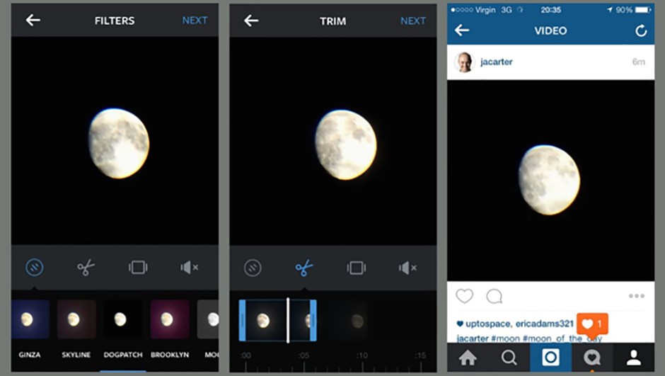 Instagram can host small time-lapse videos, and offers simple crop and filter options, too