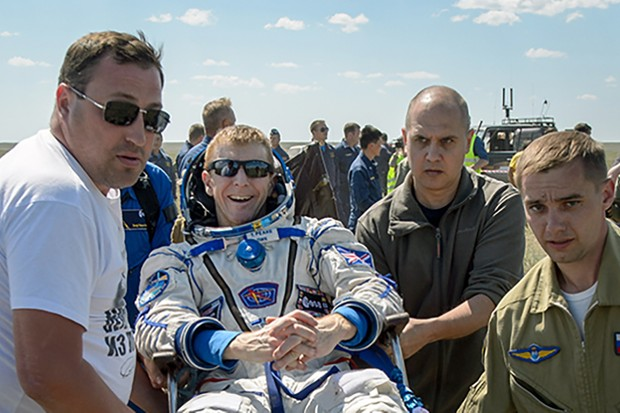 Tim Peake is lifted from the landing site of his Soyuz TMA-19M spacecraft, 18 June 2016, having touched down back on Earth after the culmination of his Principia mission to the ISS. Will the UK astronaut fly to Earth orbit again? Image Credit: NASA–Bill Ingalls