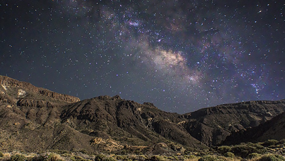 Peter Louer - Milkyway shining of the Teide National Park