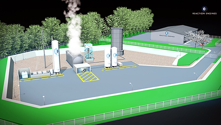 A simulation of how the testing facility at Westcott will look when finished. Credit: Reaction Engines Ltd