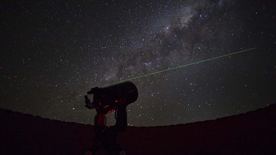 Sossusvlei Desert Lodge in Namibia has telescopes and a resident astronomer.