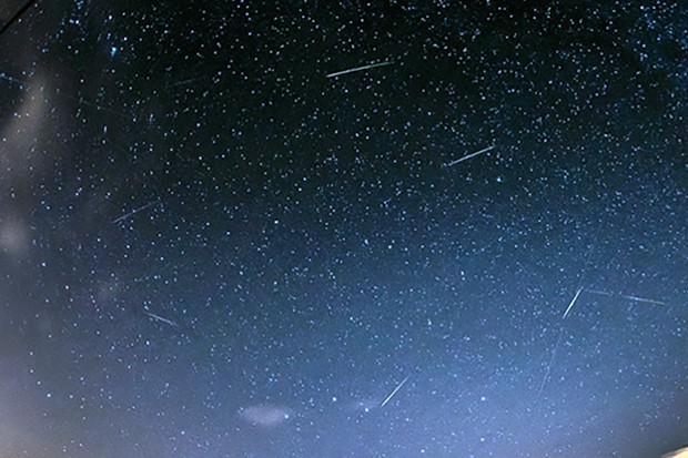 Luke Hayes captured this shot of the Perseid meteor shower from the Dengie peninsula in Essex. Luke used a Canon EOS 5D DSLR camera with a Canon 8-15mm lens. Image Credit: Luke Hayes
