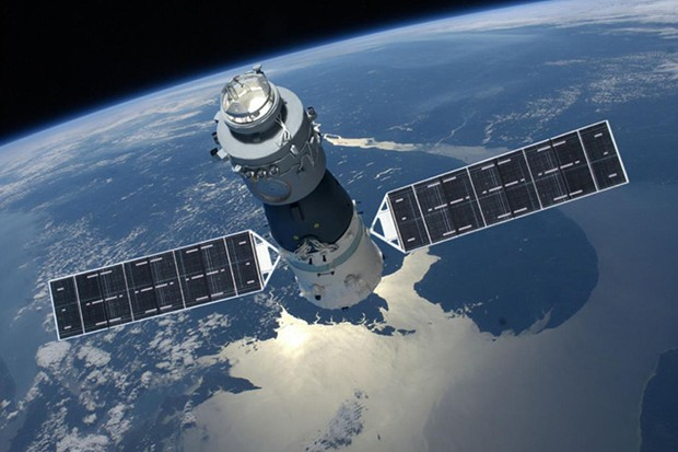 The Tiangong-1 Space Station was intended as a test-bed for the technology China would one day lead to the creation of a permanent space base Credit: Chinese National Space Agency