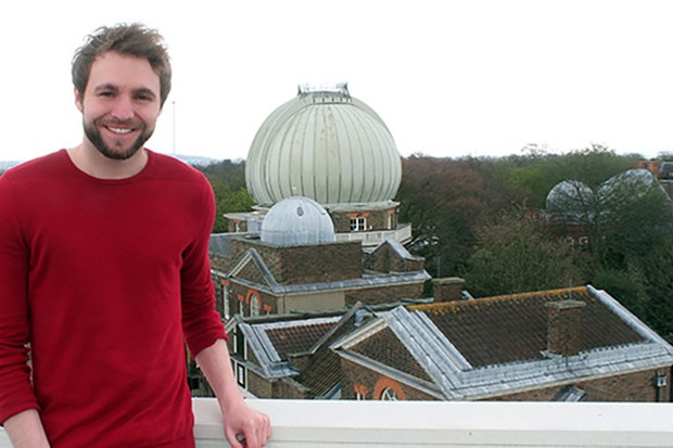 Royal Observatory Greenwich astronomer Tom Kerss. Image Credit: Tom Kerss