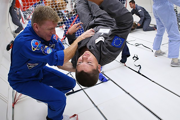 Peake has continued his outreach work on Earth. In August 2017, he and several other ESA astronauts took part in a project to let children with disabilities experience weightlessness on a parabolic flight. The Kid's Weightless Dreams campaign was organised by Novespace and Rêves de Gosse  Credit: ESA/Novespace