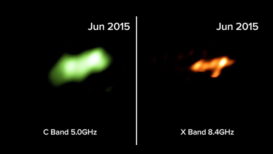 Radio-telescope images of the Tidal Disruption Event in Arp 299. Credit: Mattila, Perez-Torres, et al., B. Saxton NRAO/AUI/NSF