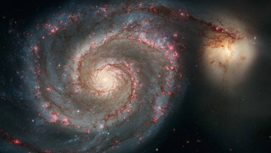 Messier 51, also known as the Whirlpool Galaxy, is one of the most famous examples of a beautiful spiral galaxy. Credit: NASA, ESA, S. Beckwith (STScI) and the Hubble Heritage Team (STScI/AURA)
