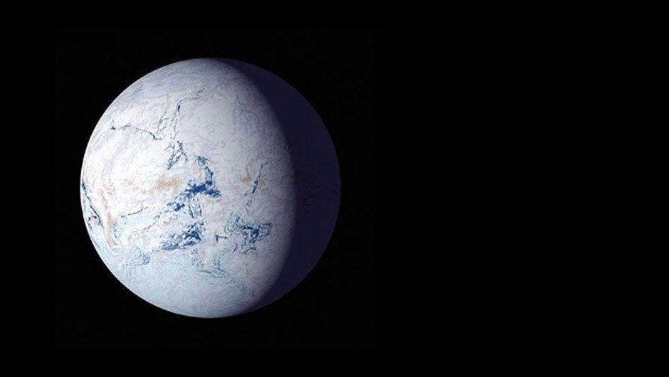 An artist's impression of a 'snowball' planet. Otherwise habitable-seeming planets could be frozen as a result of their axial tilts. Credit: NASA