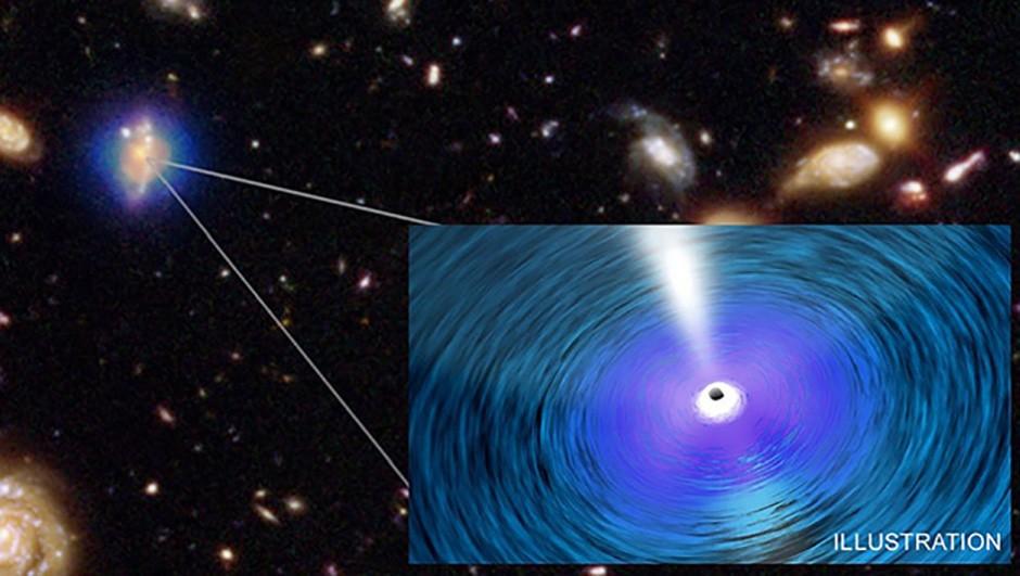 An artists's depiction of an ultramassive black hole. Credit: NASA