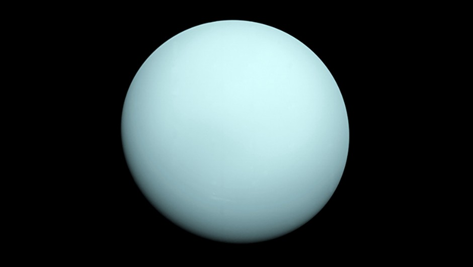 An image of Uranus taken by Voyager 2. Image Credit: NASA/JPL