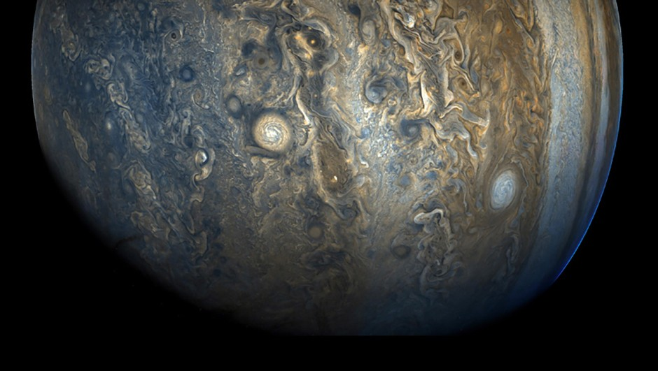 Jupiter's cloud belts, as seen by NASA's Juno spacecraft. Credit: NASA/JPL-Caltech/SwRI/MSSS/Kevin M. Gill