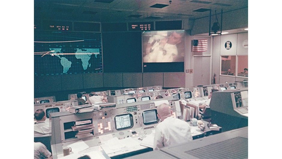 Gene Kranz watches on as the events of Apollo 13 unfold.