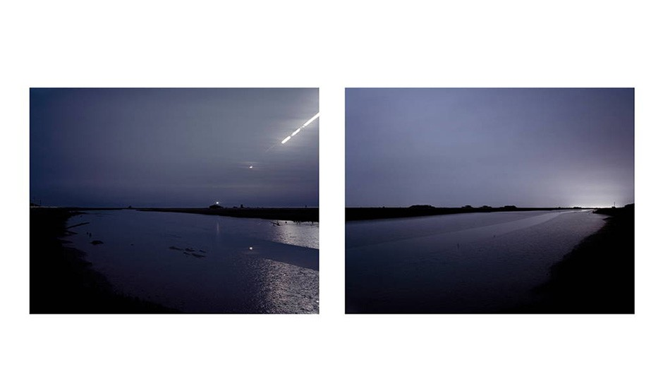 Philippe Pleasants, Orford Ness, Suffolk, 2010 (diptych). Credit: BREESE LITTLE
