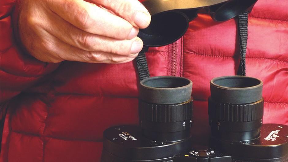 Binocular-tethered