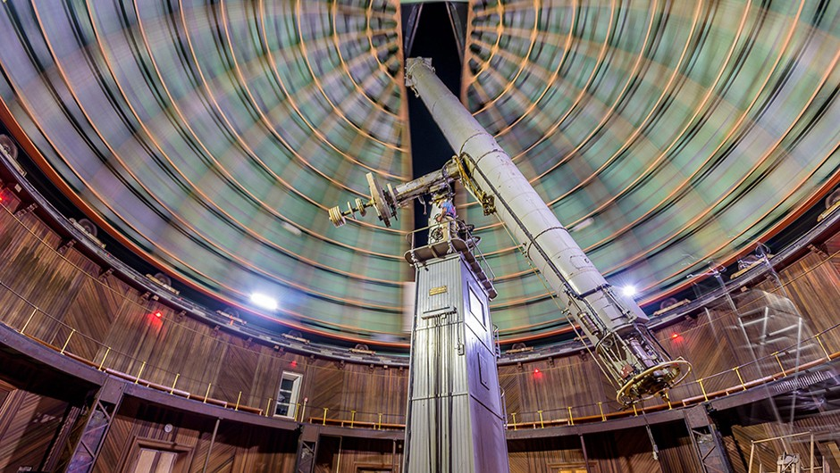 The 129-year-old, 36-inch Great Refractor used by Scott and Nick to capture modern astrophotos. Credit: UC Regents / Lick Observatory (Christopher Schodt)