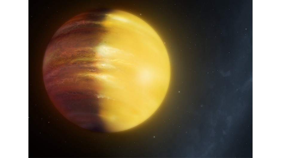 An artist's impression of the planet HAT-P-7b, a gas giant 16 times larger than Earth over 1,000 lightyears away.Credit: University of Warwick/Mark Garlick