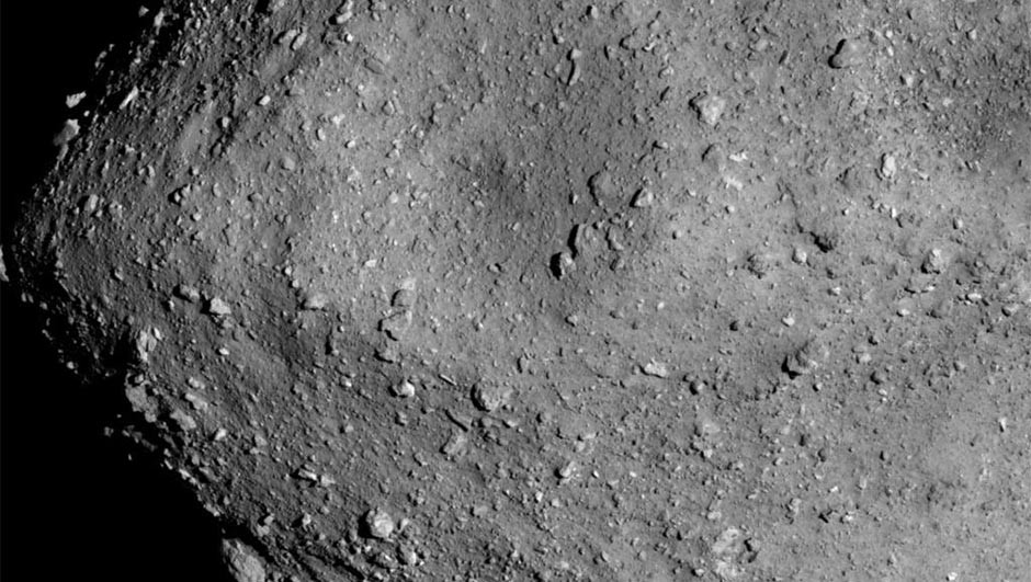 Ceres' mountain Ahuna Mons, as seen in this mosaic composed using images taken by Dawn from an altitude of 385km in December 2015. Credit: NASA/JPL-Caltech/UCLA/MPS/DLR/IDA