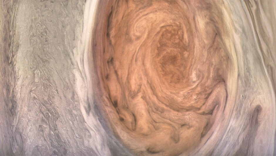 Jupiter's Great Red Spot storm, as seen by NASA's Juno spacecraft. Credits: NASA/JPL-Caltech/SwRI/MSSS/Kevin Gill