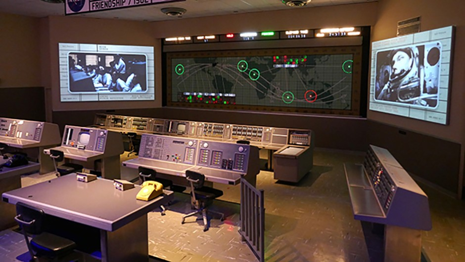 Heroes & Legends contains a mock-up of Mercury Mission Control. Credit: Jamie Carter