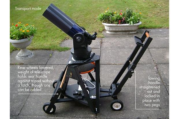 How to build a wheeled telescope tripod - skyatnightmagazine
