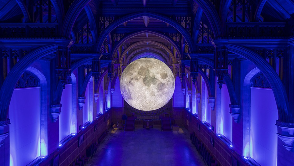 Museum of the Moon is a piece of lunar artwork created by Luke Jerram that will be installed at this year's bluedot festival Credit: Carolyn Eaton