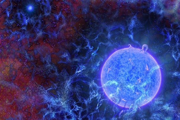 The first stars in the Universe were extremely massive, blue and bright. Image Credit: N.R.Fuller, National Science Foundation