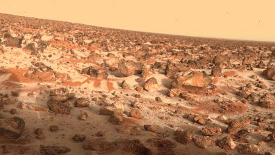 The Utopia Planitia region, captured by the Viking Lander 2 spacecraft on 18 May 1979. Credit: NASA/JPL