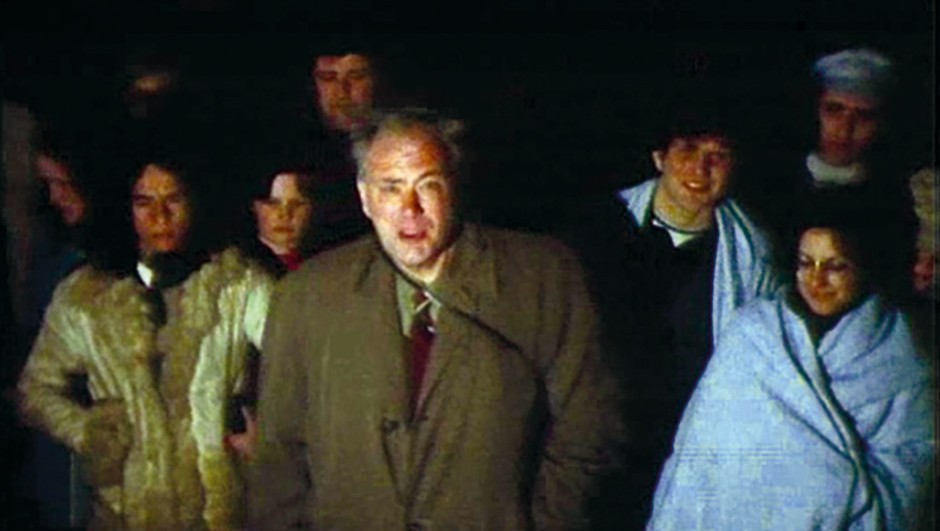 Patrick Moore pictured during filming for The Sky at Night in 1972.Credit: BBC