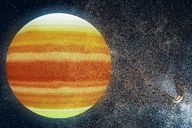 An artist's impression of a habitable exoplanet orbiting a pulsar. Institute of Astronomy, University of Cambridge