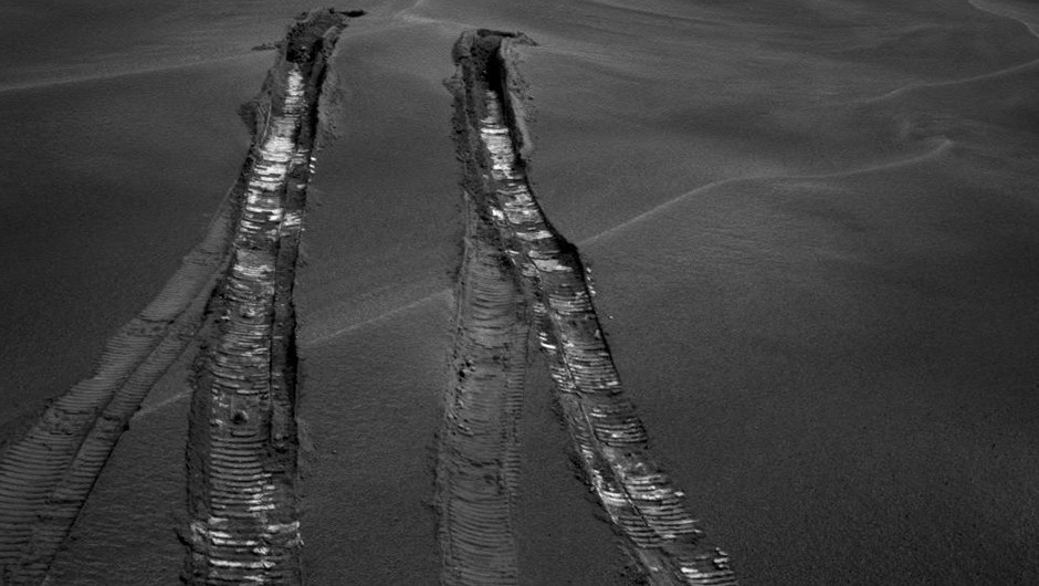Opportunity looks back at Purgatory Ripple, a week after it managed to break free of the sand trap.Credit: NASA/JPL