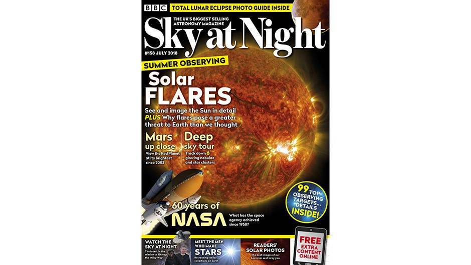 SKY AT NIGHT JULY 2018 cover