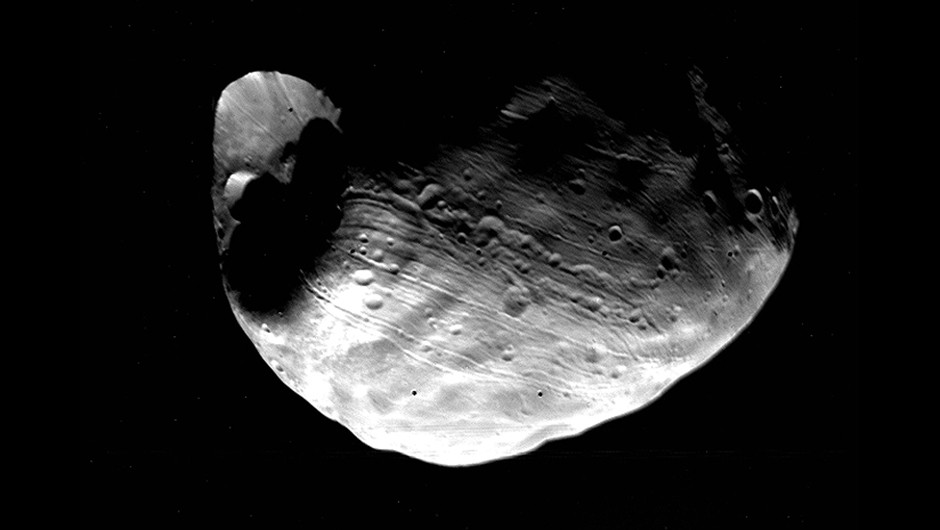 An image of Phobos captured by the Viking orbiter on 10 June 1977Credit: NASA