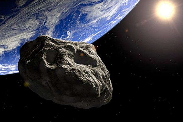 An artist's impression showing the orbital path of asteroid 2014 JO25. Credit: NASA