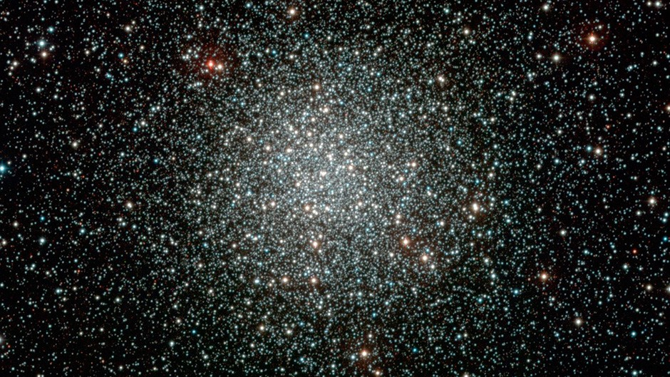 Colour-composite image of the globular cluster NGC 3201, obtained with the WFI instrument on the ESO/MPG 2.2-m telescope at La Silla. Globular clusters are large aggregates of stars, that can contain up to millions of stars. They are among the oldest objects observed in the Universe and were presumably formed at about the same time as the Milky Way Galaxy, in the early phase after the Big Bang. This particular globular cluster is located about 16 000 light-years away towards the Southern Vela constellation. The data were obtained as part of the ESO Imaging Survey (EIS), a public survey being carried out by ESO and member states, in preparation for the VLT First Light. The original image and astronomical data can be retrieved from theEIS Pre-Flames Survey Data Release pages, where many other nice images are also available.