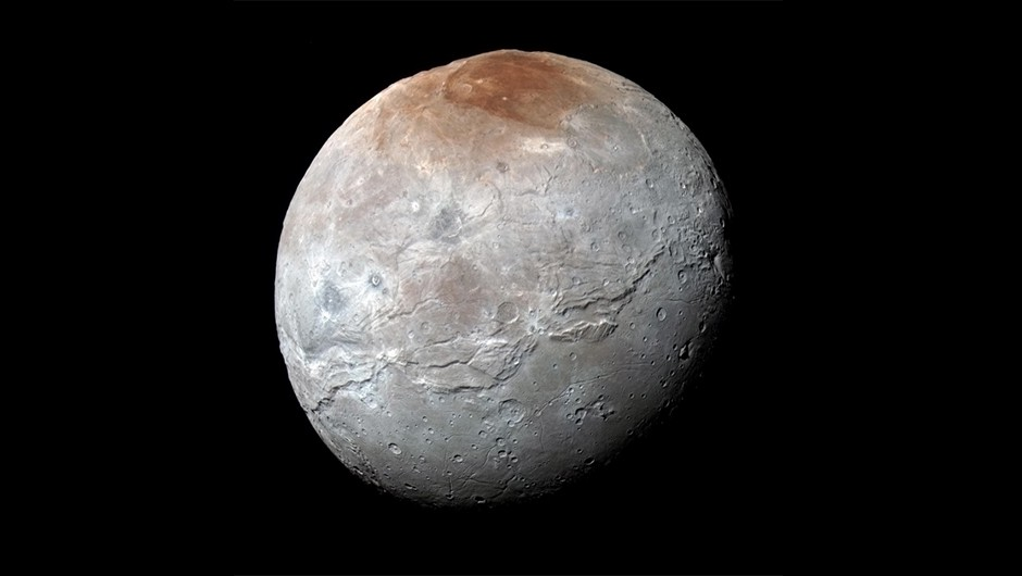 Charon is the largest of Pluto's five moons, Credit: NASA/JHUAPL/SwRI