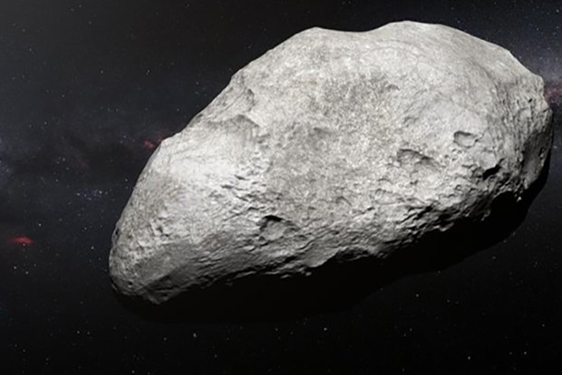The asteroid is a relic of the gravitational upheaval that occured during the early eras of the Solar System. Credit: ESO/M. Kornmesser
