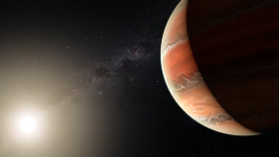 An artist's impression showing the exoplanet WASP-19b, in which atmosphere astronomers detected titanium oxide for the first time. In large enough quantities, titanium oxide can prevent heat from entering or escaping an atmosphere, leading to a thermal inversion — the temperature is higher in the upper atmosphere and lower further down, the opposite of the normal situation.