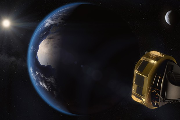 The ARIEL satellite will look for traces of chemicals such as water vapour, carbon dioxide and methane in exoplanet atmospheres. Image Credit: ESA/STFC RAL Space/UCL/Europlanet-Science Office